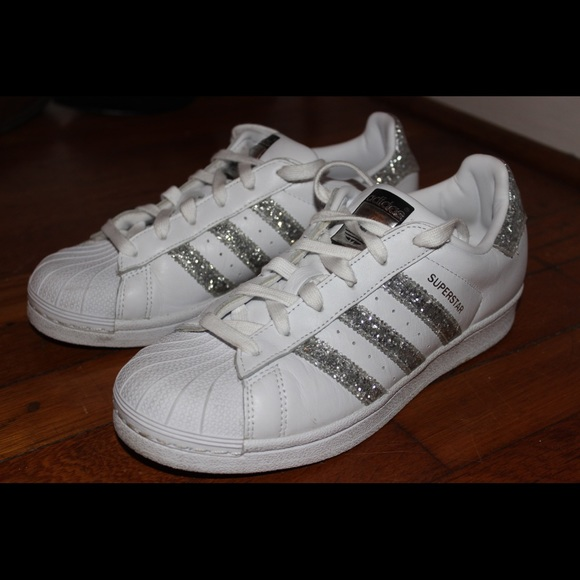 separation shoes 372e3 8bd52 adidas Shoes - LIMITED EDITION ADIDAS SUPERSTAR SILVER GLITTER